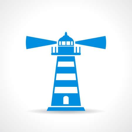 high beams: Lighthouse vector symbol