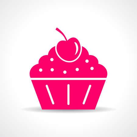 simbol: Cake icon Illustration