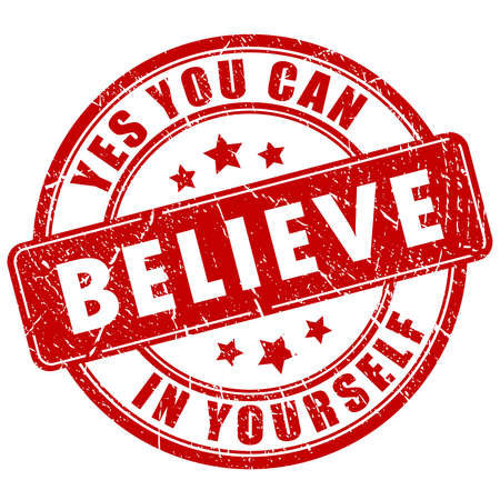affirmative: Believe in yourself, motivational stamp