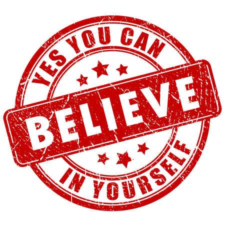 creer: Cree en ti mismo, sello de motivación