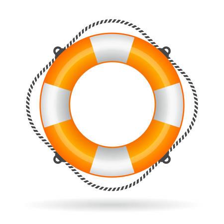 emergency vest: Life ring icon Illustration