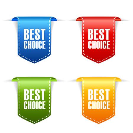 最適な選択リボン セット  イラスト・ベクター素材