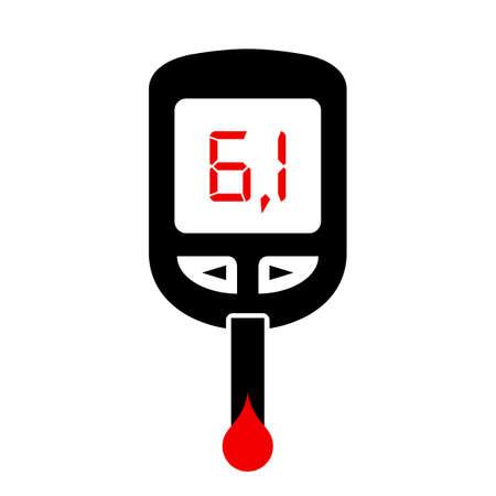 mellitus: High sugar level, diabetes symbol