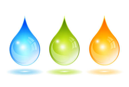 Glass vector drops set Illustration