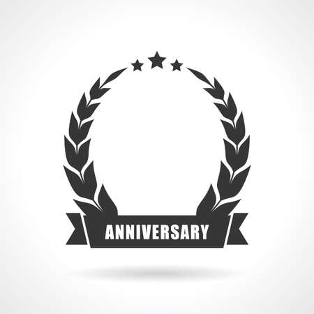 ten years jubilee: Blank anniversary icon, add your number