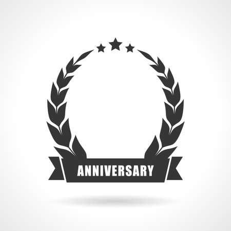 Prázdný symbol výročí, přidat číslo