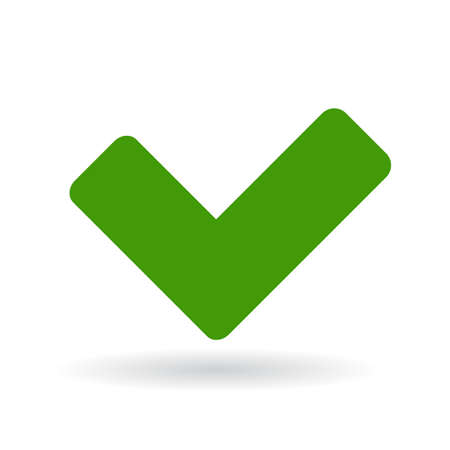 approving: Green tick icon Illustration