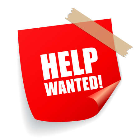 help wanted: Help wanted notice sign Illustration