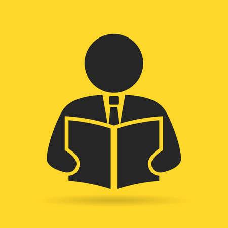 erudite: Reading person icon