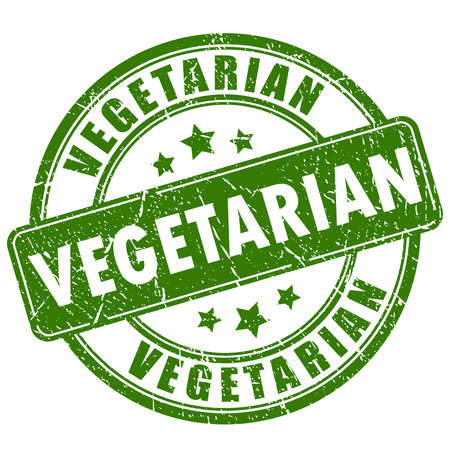 Vegetarian rubber stamp