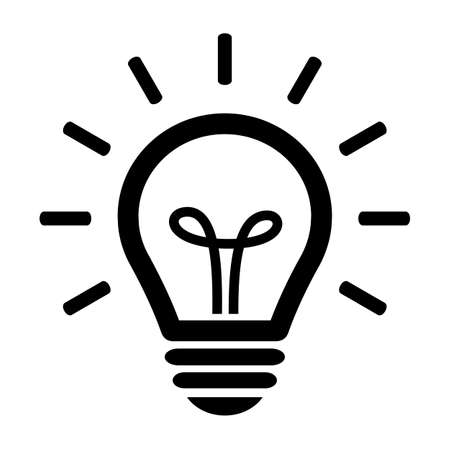 Glühbirnen-Symbol Standard-Bild - 49514627