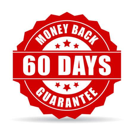 60 giorni icona garanzia di rimborso Archivio Fotografico - 49514642