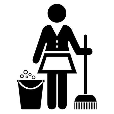 kobieta służąca ikona