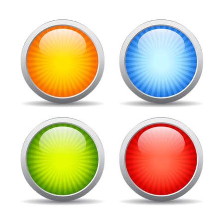striped: Striped web buttons set