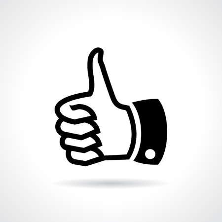rate: Thumb up like icon Illustration