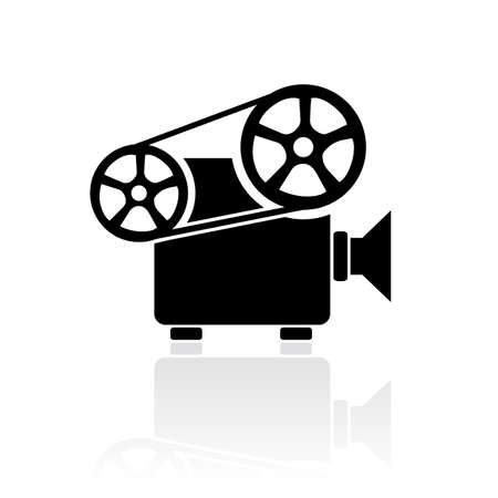 cinematograph: Video projector sign Illustration