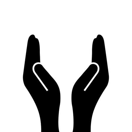 Support hands icon Stock Illustratie