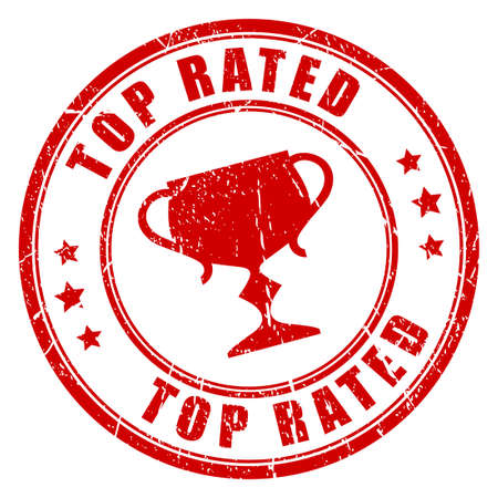 top: Top rated stamp