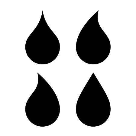 Water drop icons set