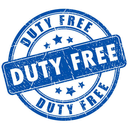 duty: Duty free rubber stamp
