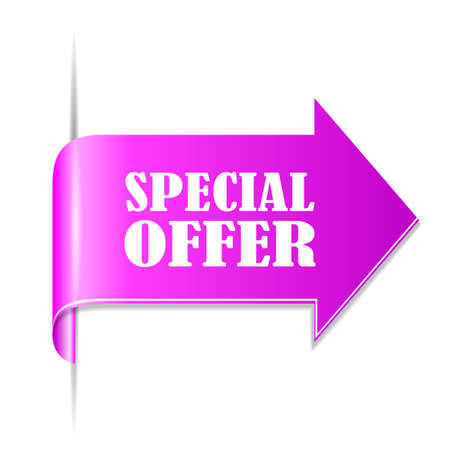 best ad: Special offer ribbon