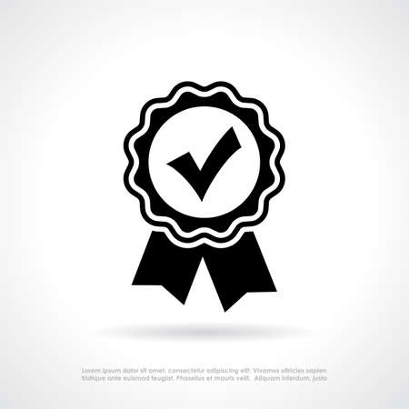 acception: Approval quality certificate Illustration