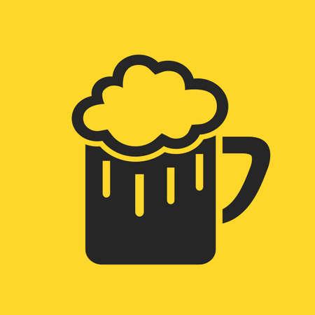 suds: Beer glass pictogram