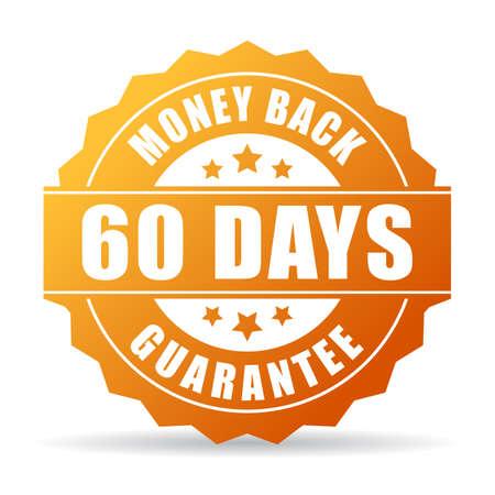 60 dagen geld terug goud icoon