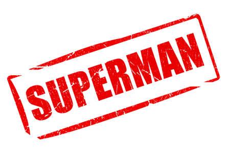 supernatural power: Superman rubber stamp