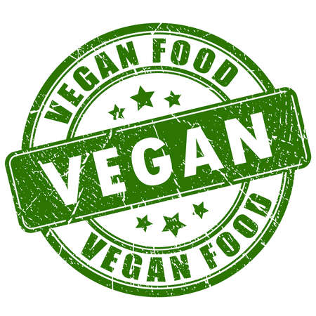 vegan food: Vegan food rubber stamp