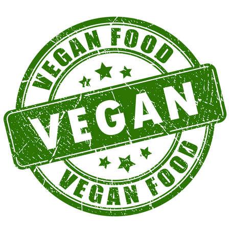 Veganistisch eten rubber stamp