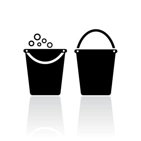 cleaning bucket: Bucket icon