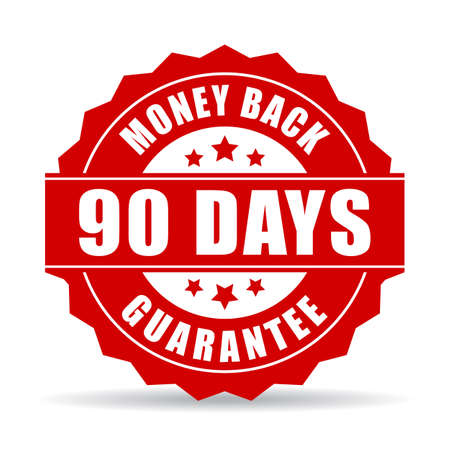 90: 90 days money back guarantee icon Illustration