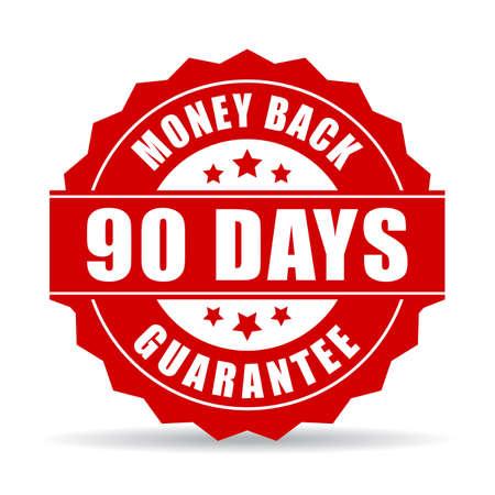 90 days money back guarantee icon Ilustrace