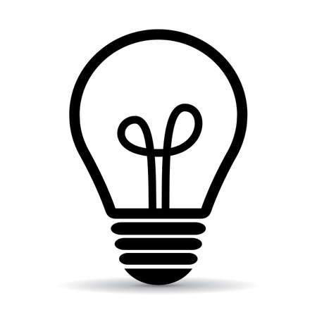 Light bulb vector icon Illustration
