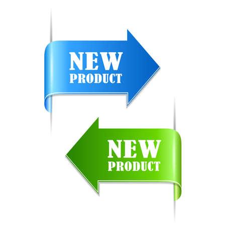 New product labels  イラスト・ベクター素材