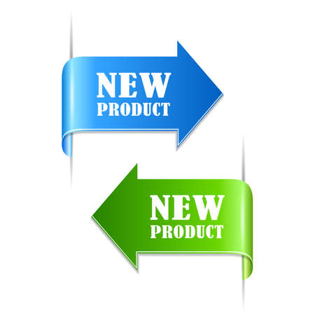 New product labels Vectores