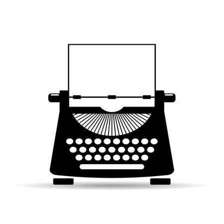 the typewriter: icono de la m�quina de escribir vieja Vectores