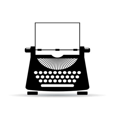 typewriter: Old typewriter icon