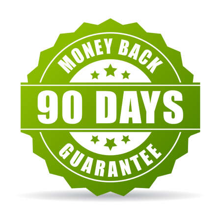 90 days money back green icon