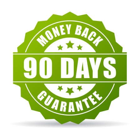 90: 90 days money back green icon