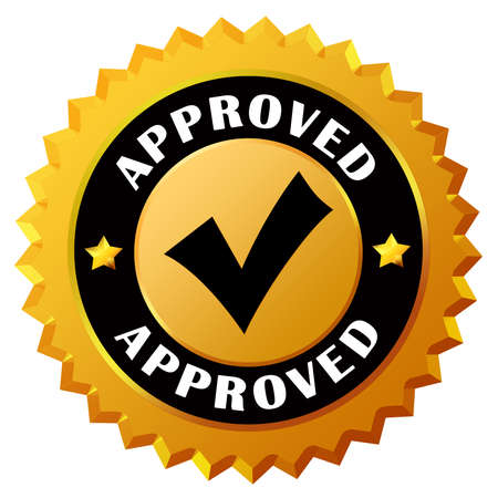 approving: Approved gold seal