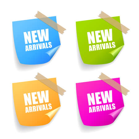 arrival: New arrival sticker