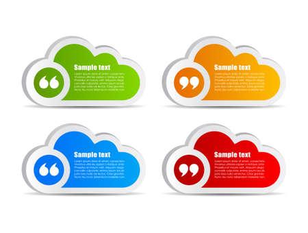 cite: Quote text clouds set Illustration