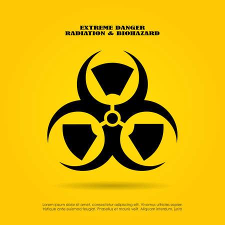 epidemy: Extreme danger symbol, radiation and biohazard mix