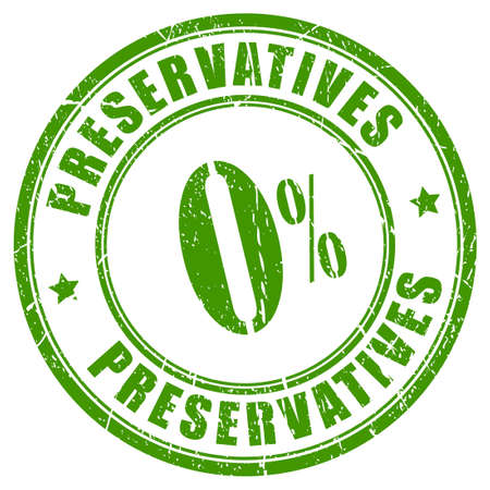 No preservatives rubber stamp