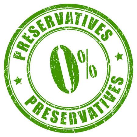 No preservatives rubber stamp