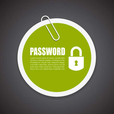 protected: Password protected information sticker Illustration