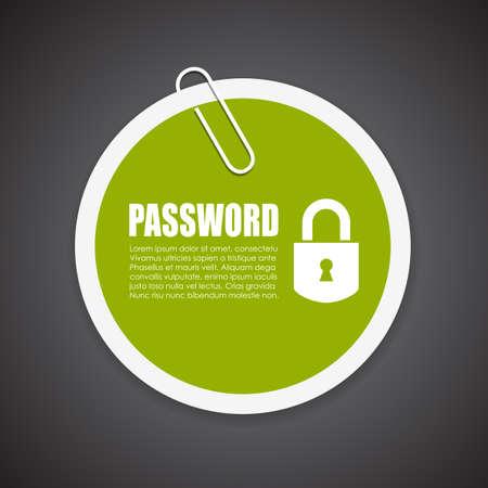 contrase�a: protegido por contrase�a informaci�n de la etiqueta engomada Vectores