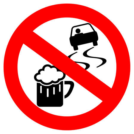 No drink and drive sign Иллюстрация